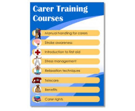 TRAINING COURSES FOR CARERS